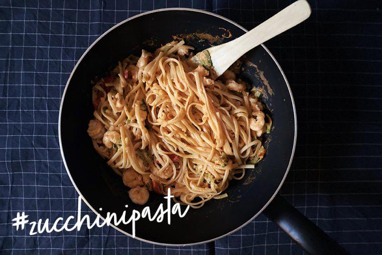 Zucchininudeln Rezept Mittagessen