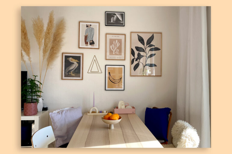 Wandbilder von Desenio Wohnzimmer Essecke Living Poster