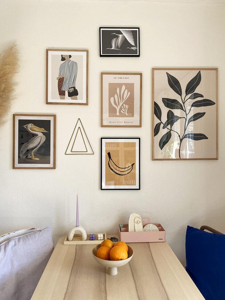 Wandbilder von Desenio Poster Wohnzimmer