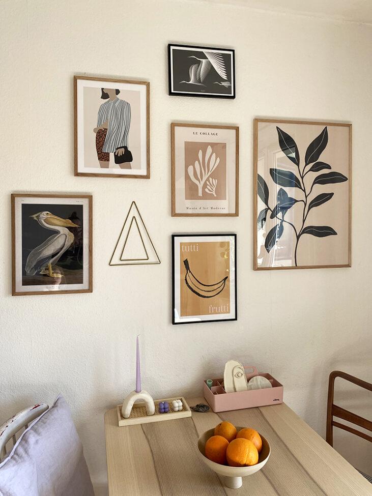 Wandbilder von Desenio Wohnzimmer Essecke Living