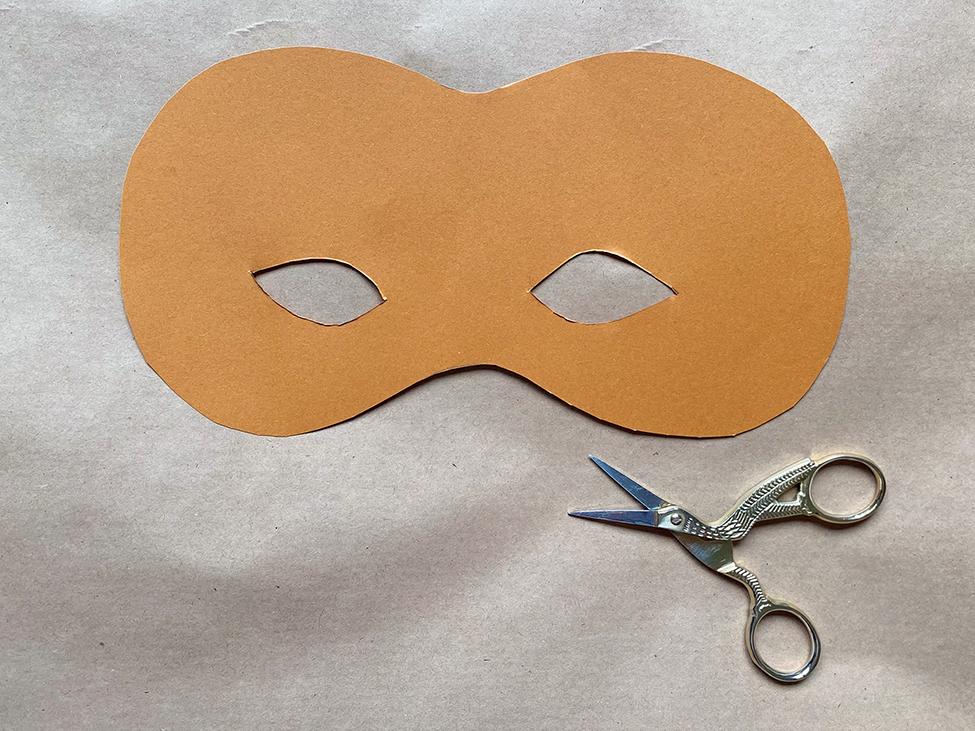 Vogelmaske basteln DIY Kinder