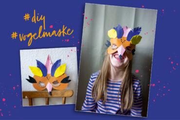 Vogelmaske basteln DIY Kindergeburtstag