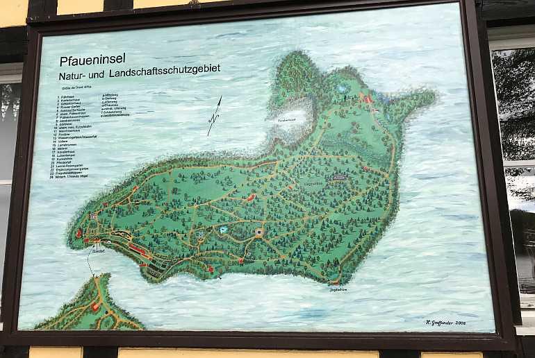 Pfaueninsel Plan Karte
