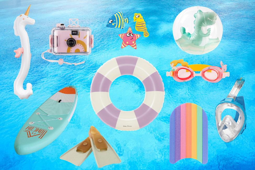 Spielzeug für den Strand, Kinder, Familie, Wasser, Meer