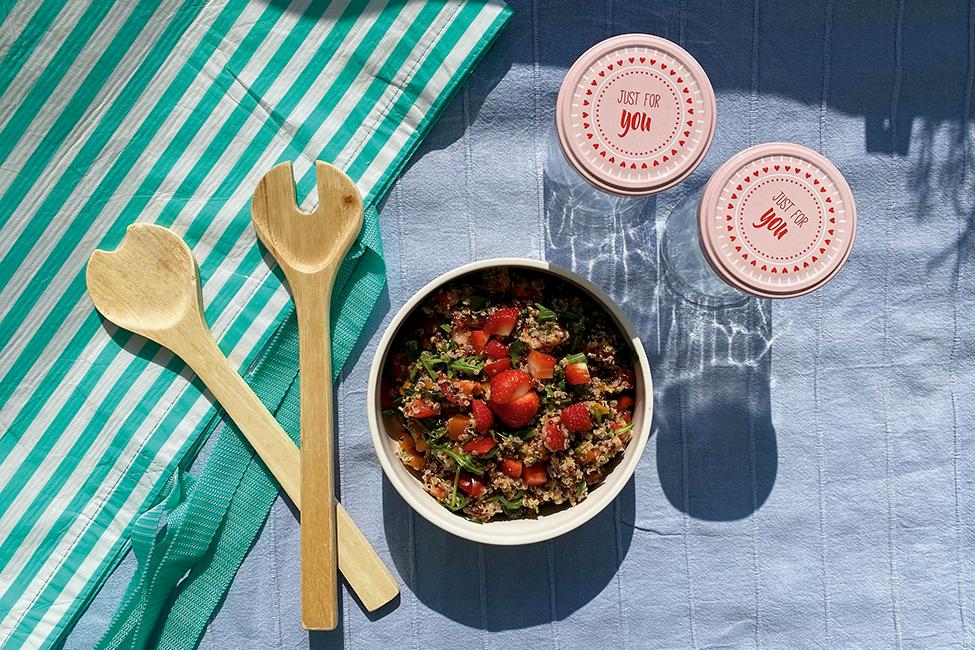 Picknickzeit Erdbeeren Rezept Salat