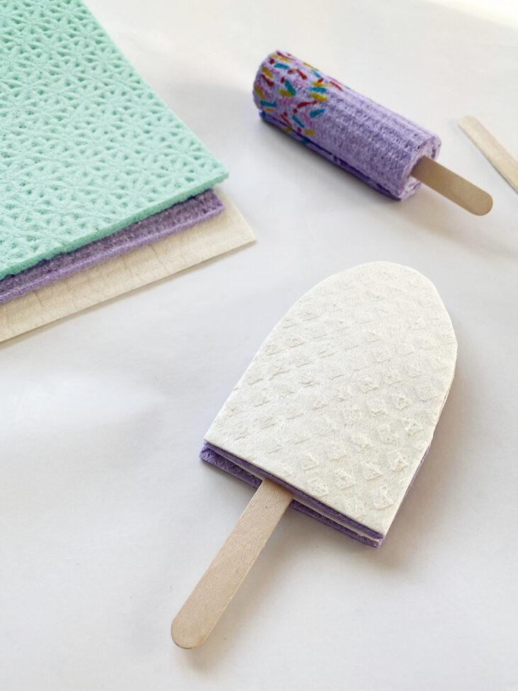 DIY Eis am Stiel Kinder selber machen basteln