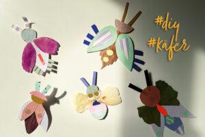 Käfer basteln DIY Kinder Frühling