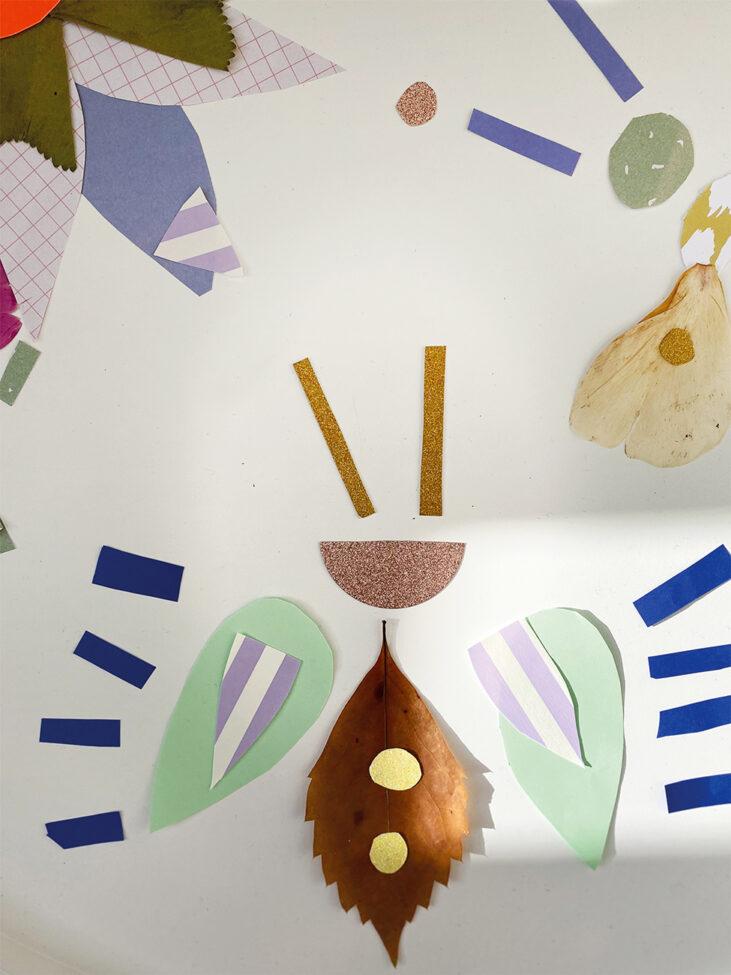 DIY mit Kindern Blätter Käfer basteln