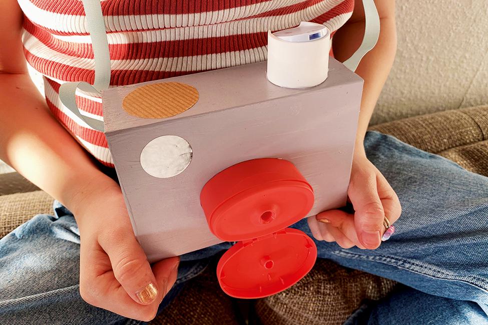 Kamera selber basteln DIY mit Kindern