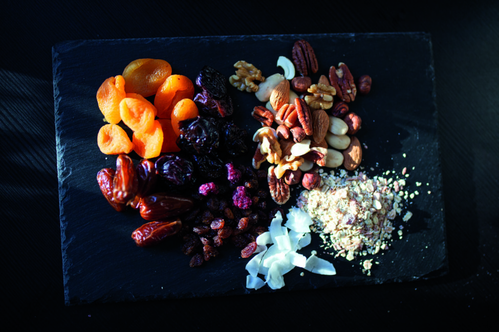 Gesunde Snacks Fruchtleder Fruchtschnitten Energy-Balls