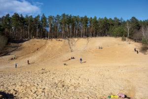 Sandgrube im grunewald Berlin Ausflug Familie Kinder