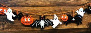 bügelperlen halloween girlande vorlage anleitung diy