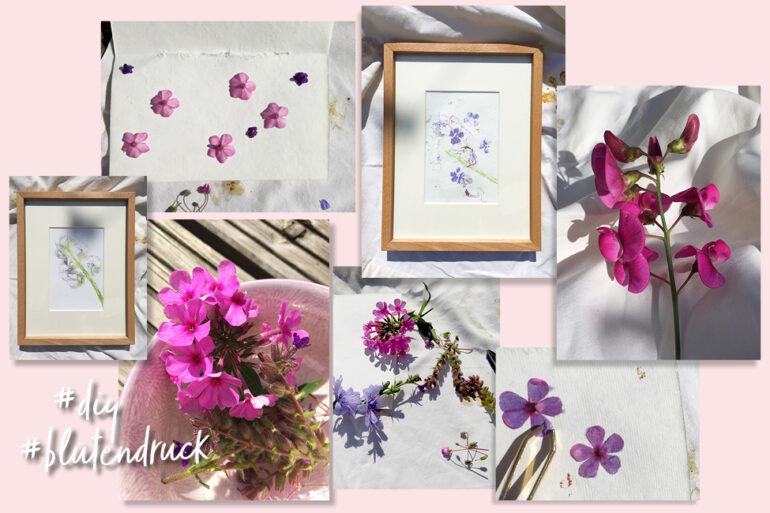 Blütendruck DIY Blumen