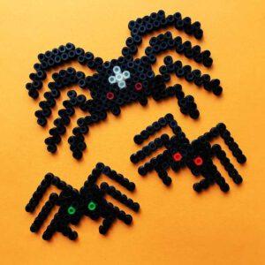 halloween bügelperlen vorlage spinne