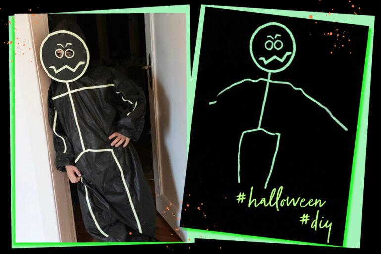 Halloween Kostüm DIY Kinder basteln