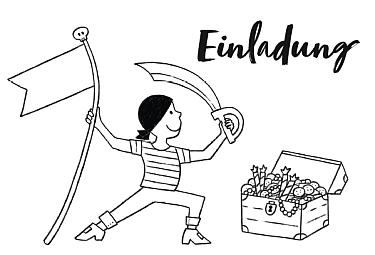 piraten kindergeburtstag download kostenfrei kostenlos ausmalbild malvorlage einladung karte