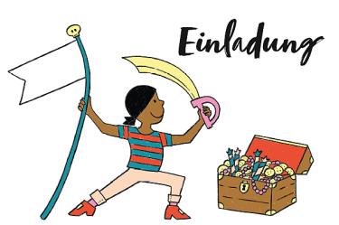 piraten kindergeburtstag download kostenfrei kostenlos einladung karte