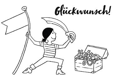 piraten kindergeburtstag download kostenfrei kostenlos ausmalbild malvorlage glückwunsch karte