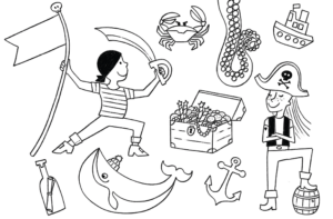 piraten kindergeburtstag download kostenfrei kostenlos ausmalbild malvorlage