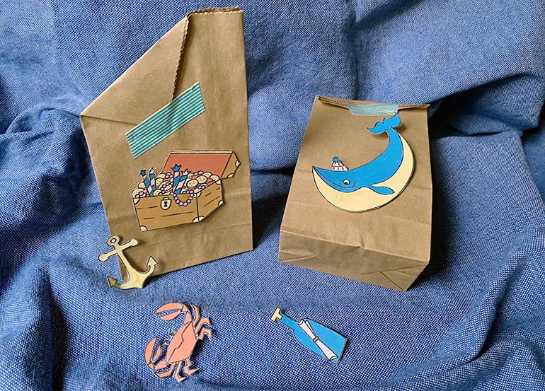 piraten kindergeburtstag gästetüte mitgebsel idee