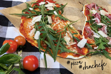 Pizza ohne Hefe Rezept